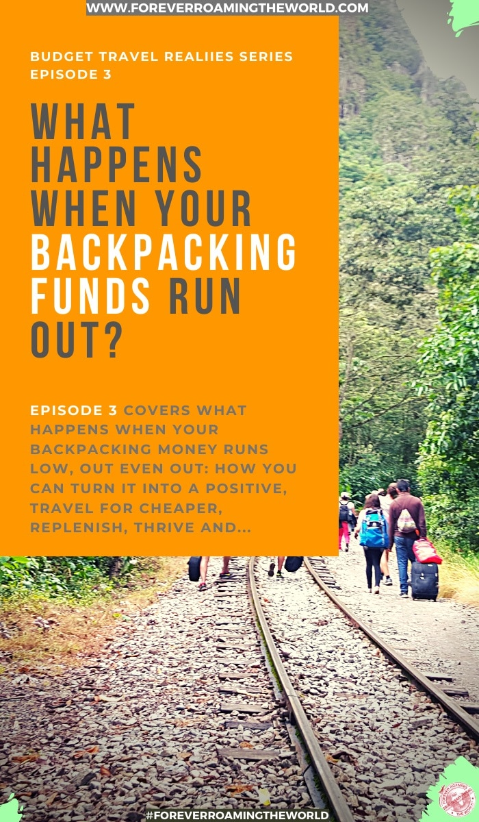 What happens when your backpacking funds run dry? How do you cope, get by and even survive without money while traveling? This post shows you how to get by backpacking without money. #solotravel #backpacker #budgettravel #travelingfunds #backpackertips #travelhack #traveltips #travelblog