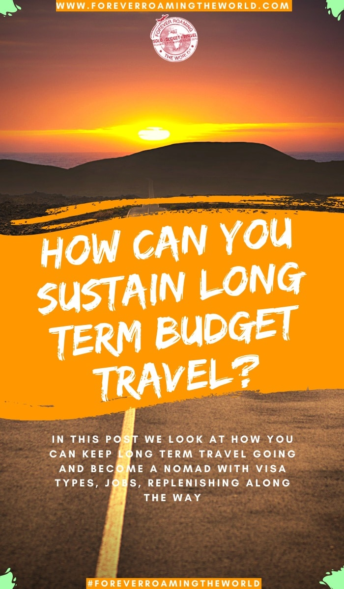 How can you sustain longterm budget travel for years on end? Is a question asked to us longterm budget travellers a lot. It's not easy, it's quite challenging at times, but this post shows 5 different backpacker jobs to help sustain it #budgettravel #solotravel #backpacker #traveltips #backpackingtips #longtermtravel #travelblog #solobackpacking #backpackerjobs #solotravel