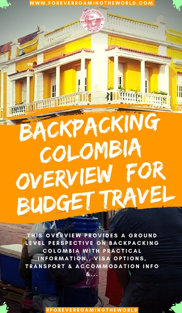 This backpacking Colombia overview, gives you an insight into practical tips for everyday backpacking life, visas options, things to be wary of, transport and accommodation options, an interactive map and more #solotravel #backpacking #backpacker #travelblog #budgettravel #solobackpacker #colombia #backpackingcolombia #travelcolombia #solotravelcolombia #colombiatips #colombiaguide