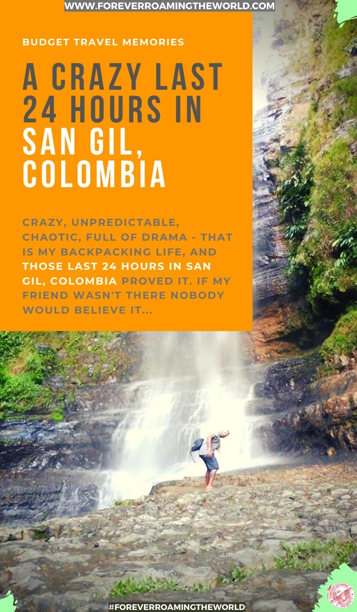 There are certain traveling memories that stay with you forever. My last 24 hours in the jungle of San Gil Colombia will be one. In this post I show you how unpredictable my backpacking life is #backpacking #backpacker #travelmemory #backpackermemory #solotravel #travelblog #travelblogger #travelstory