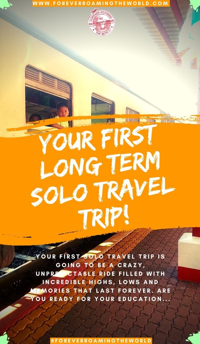 No amount of planning and research will truly prepare you for your first solo backpacking trip. This post dives into the type of things you have to get used to as a first time solo backpacker. #solotravel #solobackpacker #backpackingtips #traveltips #solotravelhelp #budgettravel #longtermtravel #travel #travelblog