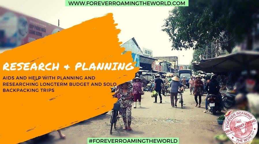 Resource page to help with budget planning help from Forever Roaming the World