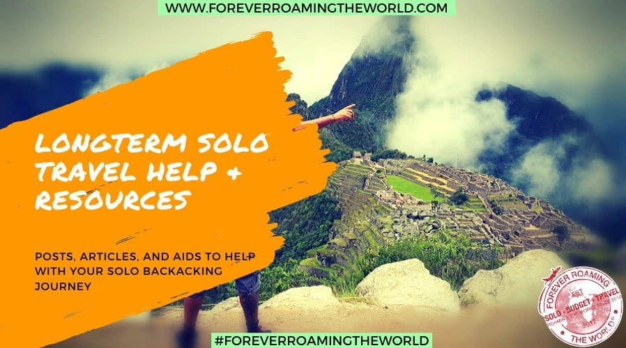 Forever Roaming the Worlds solo travel advice landing page