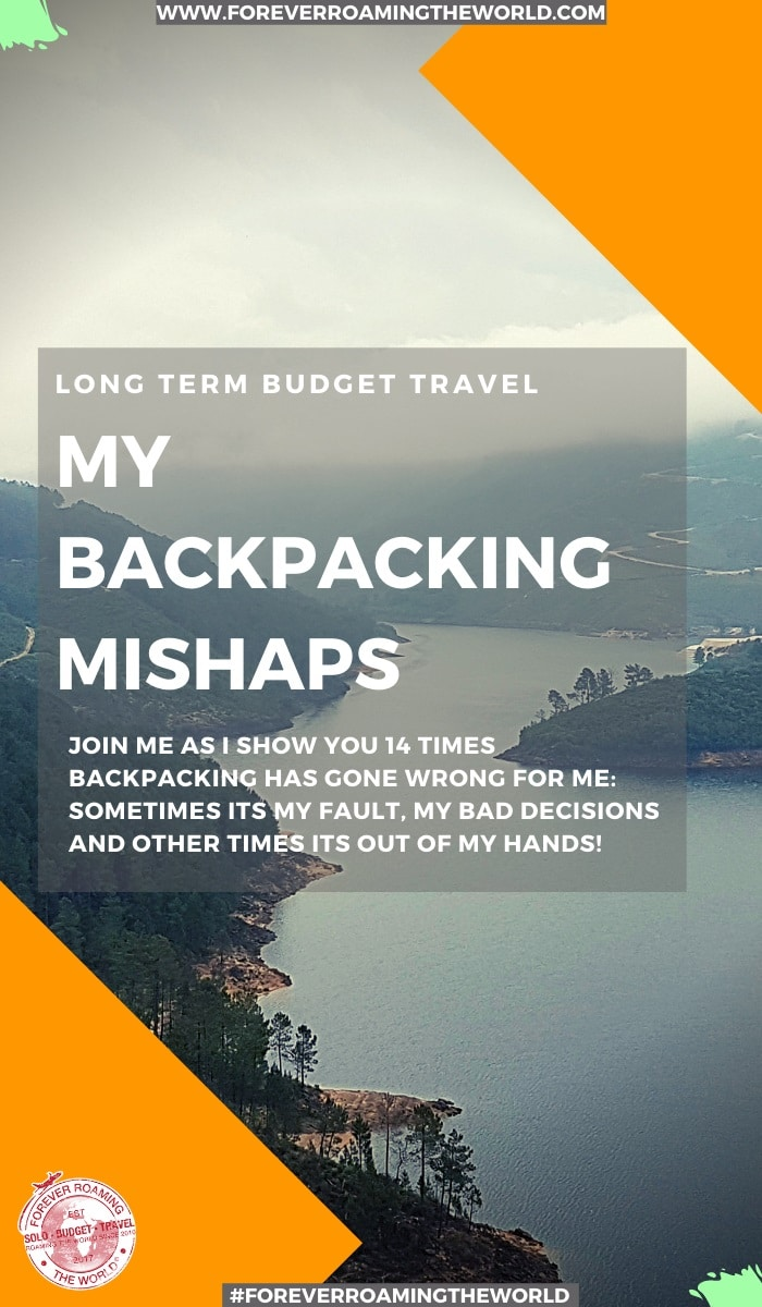 In this backpacking mishaps post, I'm gonna dive head first into some of the fuck ups and backpacking problems that have happened to me and occured over the years. Feel free to laugh, call me an idiot, possibly be shocked but these backpacking mishaps have actually added to my adventure and journey over the years. #travel #backpacking #solotravel #budgetravel #backpacking #longtermtravel #travelblogger
