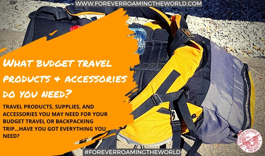 Feature pic for budget travel products page - forever roaming the world