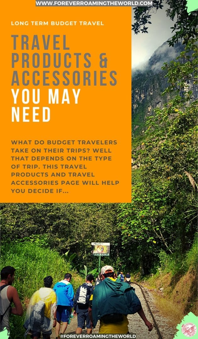 What do budget travelers take on their trips? Well that depends on the type of trip. This travel products and travel accessories page will help you decide what you need... #travel #solotravel #budgettravel #backpacking #travelproducts #travelaccessories #travelsupplies #travelblog #