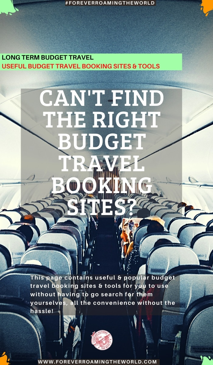 This page contains useful budget travel booking sites & tools for you to use without having to search for them yourselves. They have been my go to sites since... #solotravel #budgettravel #backpacking #travel #travelplanning #travelbooking #traveltips #travelresource #bookingsites #hostels #airbnb #flights #travelinsurance
