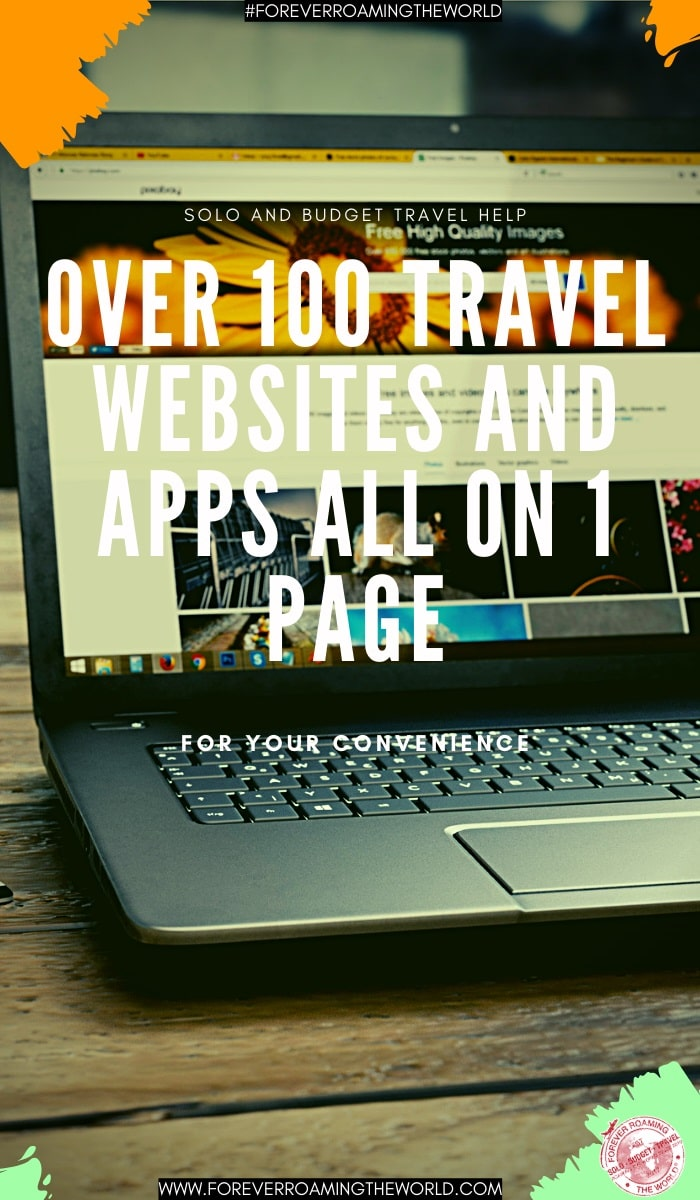 This useful backpacker website page has over 100 useful and relevant websites and apps listed to make searching the correct information easier for you. It covers everything from booking tools, accommodation websites, budget airlines all over the world and much more. #usefultravelwebsites #solotravel #solotraveltips #solotravelhelp #solobackpacker #budgettravel #budgettraveltips #travelblog #foreverroamingtheworld #solotravelinfo #travelwebsites #backpackerwebsites