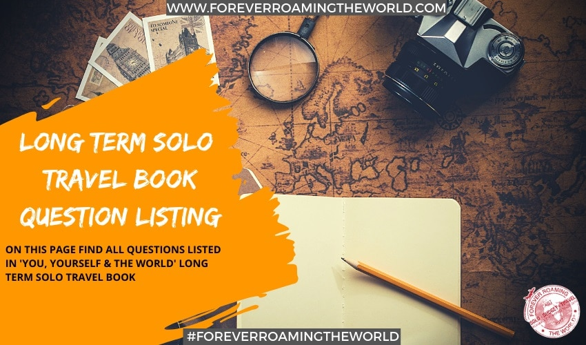 solo travel book sections & 100+ question listings 1