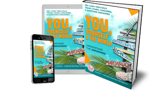 Solo travel book info: You, Yourself & the World 3