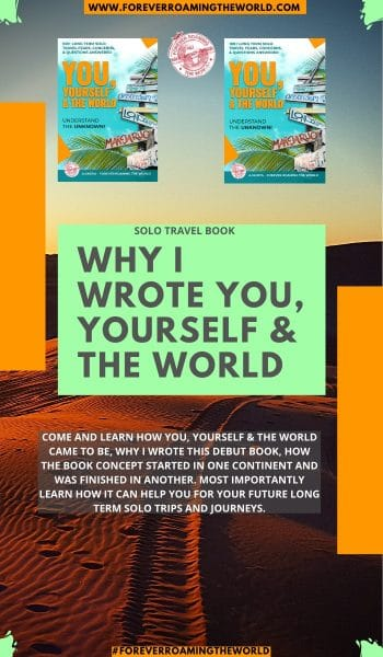 Find out why after 10 years of long term solo travel I decided to write a book to help with your future travels, how it can help, what the book covers and much more... #solotravel #budgettravel #solotravelling #solotraveler #solotravelbook #newbooks #books #travelbooks #solotraveladvice #solotraveltips #solotravelinsights #solotraveling #backpacking #solobackpacking #mybook