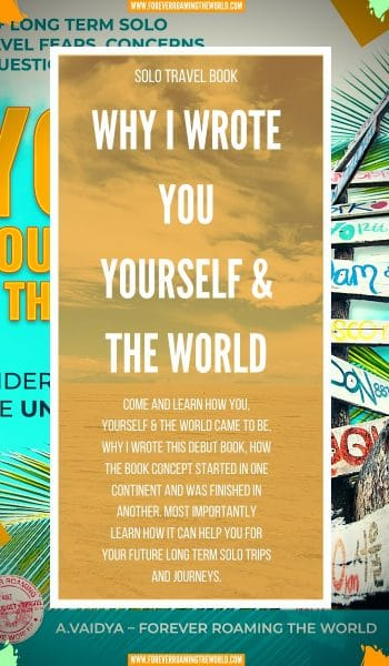 I'm excited that after 10 years of solo traveling, I've written a book: You, Yourself & the World. I pass on my extensive knowledge and experience to help anyooking to take the leap into long term travel in the future. #solotravel #solotraveling #solotraveller #solotravelbooks #travelbooks #solotraveladvice #books #newbooks #budgettravel #backpacking #travelaroundtheworld
