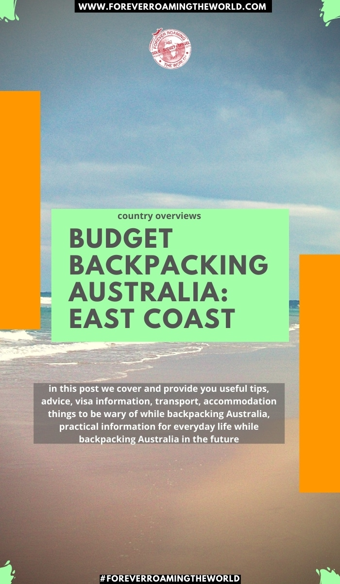 in this post we cover and provide you useful tips, advice, visa information, transport, accommodation things to be wary of while backpacking Australia, practical information for everyday life while backpacking Australia in the future #australia #solotravel #backpacking #budgettravel #backpackingaustralia